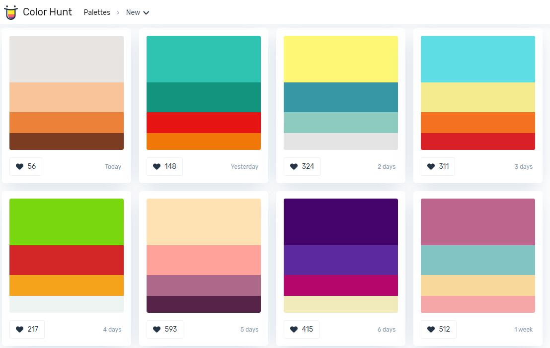 Color Hunt - 在线配色方案
