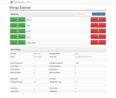 mongo-express - Express编写的MongoDB管理平台