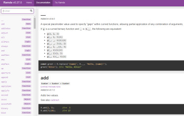 Ramda  - JavaScript 函数式编程库