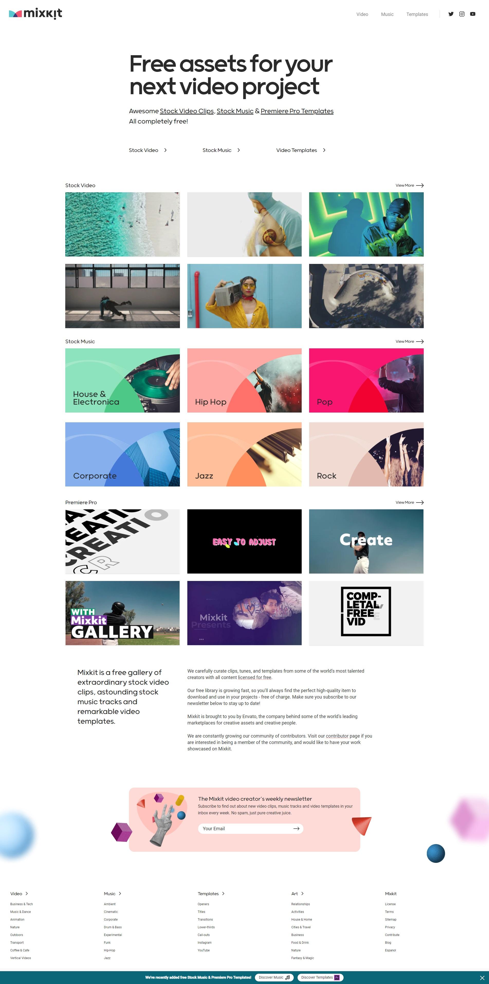 Mixkit - 免费无版权视频素材下载网站